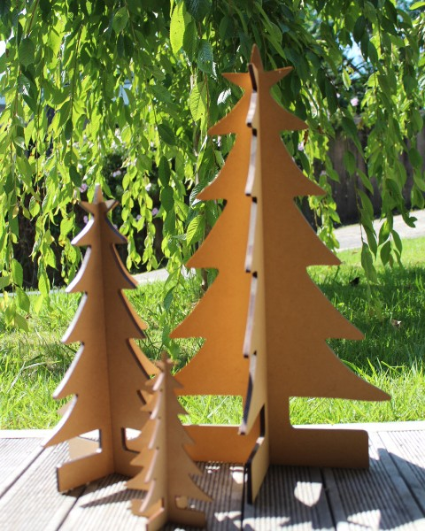 christmas 3d trees lg 510mm, med 350mm, sm 180mm