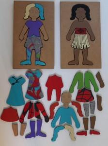 Wooden Doll set 44 pcs